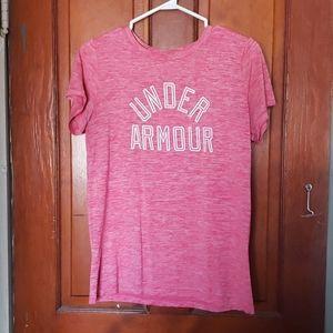 Pink light t shirt under armour